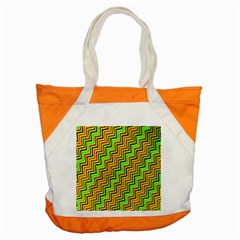 Green Red Brown Zig Zag Background Accent Tote Bag