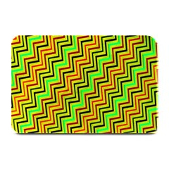 Green Red Brown Zig Zag Background Plate Mats