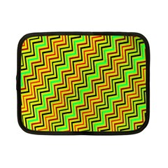 Green Red Brown Zig Zag Background Netbook Case (Small)