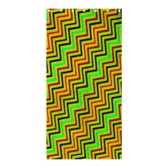 Green Red Brown Zig Zag Background Shower Curtain 36  X 72  (stall)