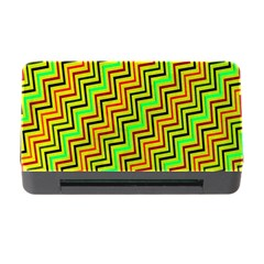 Green Red Brown Zig Zag Background Memory Card Reader with CF