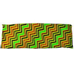 Green Red Brown Zig Zag Background Body Pillow Case (Dakimakura)