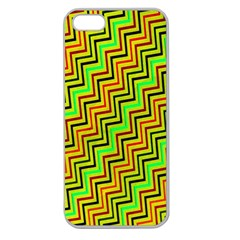 Green Red Brown Zig Zag Background Apple Seamless iPhone 5 Case (Clear)