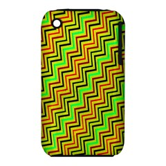 Green Red Brown Zig Zag Background iPhone 3S/3GS