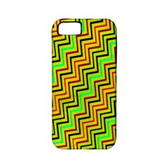 Green Red Brown Zig Zag Background Apple iPhone 5 Classic Hardshell Case (PC+Silicone)
