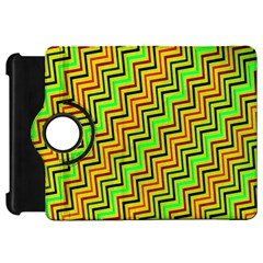 Green Red Brown Zig Zag Background Kindle Fire HD 7
