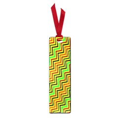 Green Red Brown Zig Zag Background Small Book Marks