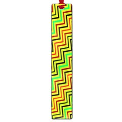 Green Red Brown Zig Zag Background Large Book Marks