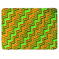 Green Red Brown Zig Zag Background Samsung Galaxy Tab 7  P1000 Flip Case
