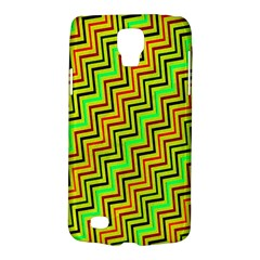 Green Red Brown Zig Zag Background Galaxy S4 Active