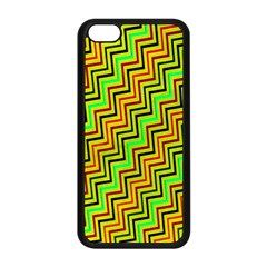 Green Red Brown Zig Zag Background Apple iPhone 5C Seamless Case (Black)