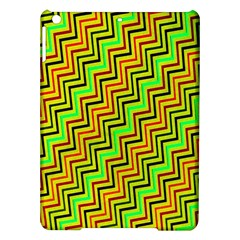 Green Red Brown Zig Zag Background iPad Air Hardshell Cases