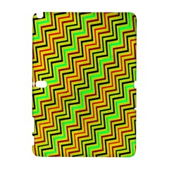 Green Red Brown Zig Zag Background Galaxy Note 1