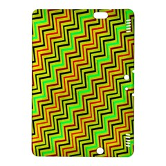 Green Red Brown Zig Zag Background Kindle Fire Hdx 8 9  Hardshell Case