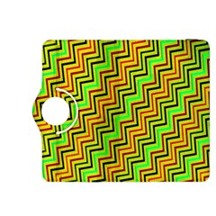 Green Red Brown Zig Zag Background Kindle Fire HDX 8.9  Flip 360 Case