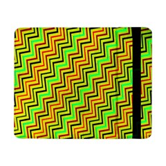 Green Red Brown Zig Zag Background Samsung Galaxy Tab Pro 8.4  Flip Case