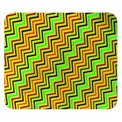 Green Red Brown Zig Zag Background Double Sided Flano Blanket (small)