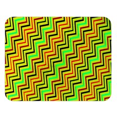 Green Red Brown Zig Zag Background Double Sided Flano Blanket (Large)