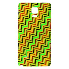 Green Red Brown Zig Zag Background Galaxy Note 4 Back Case