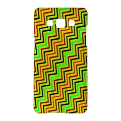 Green Red Brown Zig Zag Background Samsung Galaxy A5 Hardshell Case