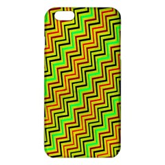 Green Red Brown Zig Zag Background iPhone 6 Plus/6S Plus TPU Case