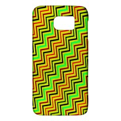 Green Red Brown Zig Zag Background Galaxy S6