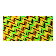 Green Red Brown Zig Zag Background Satin Wrap