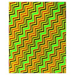 Green Red Brown Zig Zag Background Drawstring Bag (Small)