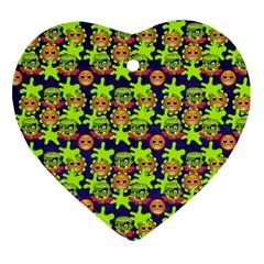 Smiley Monster Ornament (heart)