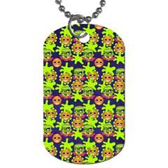 Smiley Monster Dog Tag (Two Sides)