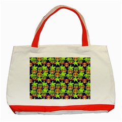 Smiley Monster Classic Tote Bag (red)