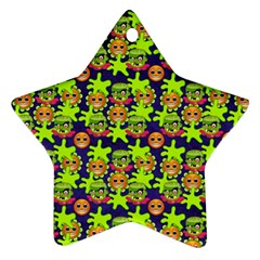 Smiley Monster Star Ornament (two Sides)