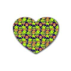 Smiley Monster Heart Coaster (4 pack)