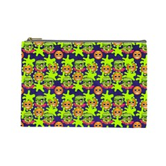 Smiley Monster Cosmetic Bag (large)