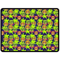Smiley Monster Fleece Blanket (large)
