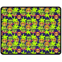 Smiley Monster Fleece Blanket (medium)