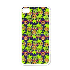Smiley Monster Apple Iphone 4 Case (white)