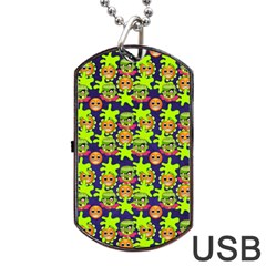 Smiley Monster Dog Tag USB Flash (Two Sides)