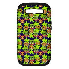 Smiley Monster Samsung Galaxy S Iii Hardshell Case (pc+silicone)