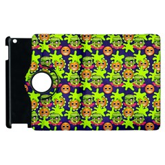 Smiley Monster Apple iPad 3/4 Flip 360 Case