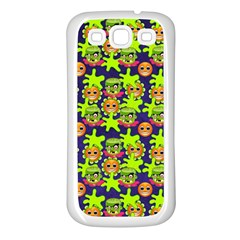 Smiley Monster Samsung Galaxy S3 Back Case (white)