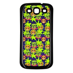 Smiley Monster Samsung Galaxy S3 Back Case (Black)
