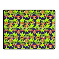 Smiley Monster Double Sided Fleece Blanket (Small)