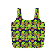 Smiley Monster Full Print Recycle Bags (S)
