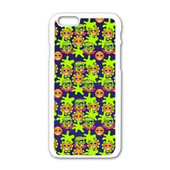 Smiley Monster Apple iPhone 6/6S White Enamel Case