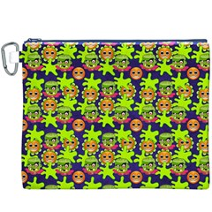 Smiley Monster Canvas Cosmetic Bag (xxxl)