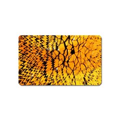 Yellow Chevron Zigzag Pattern Magnet (Name Card)