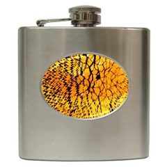 Yellow Chevron Zigzag Pattern Hip Flask (6 oz)