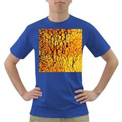 Yellow Chevron Zigzag Pattern Dark T Shirt