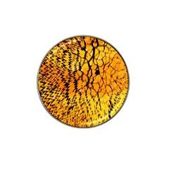 Yellow Chevron Zigzag Pattern Hat Clip Ball Marker